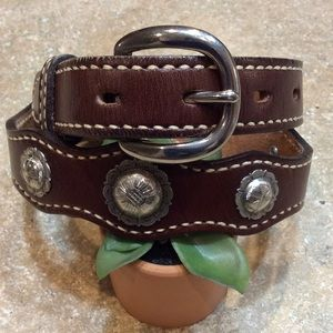 Accessories - WESTERN LEATHER CONCHO BELT